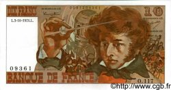 10 Francs BERLIOZ FRANCE  1974 F.63.07b SUP+