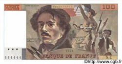 100 Francs DELACROIX FRANCE  1978 F.68.02 NEUF