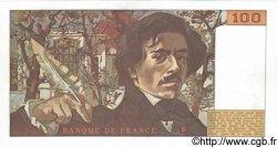 100 Francs DELACROIX modifié FRANCE  1980 F.69.03 SPL