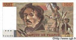100 Francs DELACROIX modifié FRANCE  1983 F.69.07 SPL