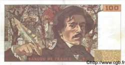 100 Francs DELACROIX modifié FRANCE  1984 F.69.08a SUP+