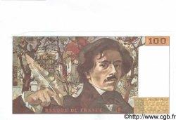 100 Francs DELACROIX modifié FRANCE  1989 F.69.13c SPL