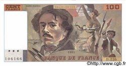 100 Francs DELACROIX imprimé en continu FRANCE  1993 F.69bis.05c NEUF