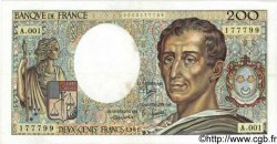 200 Francs MONTESQUIEU FRANCE  1981 F.70.01 TTB+ à SUP