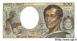 200 Francs MONTESQUIEU FRANCE  1981 F.70.01 SUP+