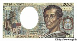 200 Francs MONTESQUIEU FRANCE  1985 F.70.05 NEUF