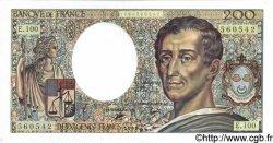 200 Francs MONTESQUIEU FRANCE  1991 F.70.10b pr.NEUF