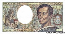 200 Francs MONTESQUIEU alphabet 101 FRANCE  1992 F.70bis.01 SPL