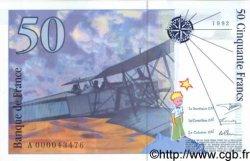 50 Francs SAINT EXUPERY FRANCE  1992 F.72.01a NEUF