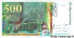 500 Francs PIERRE ET MARIE CURIE symbole en haut FRANCE  1994 F.76Bis.01var. pr.NEUF
