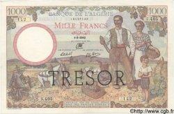 1000 Francs ALGÉRIE SURCHARGÉ FRANCE  1943 VF.10.01 SUP+