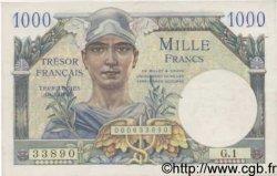 1000 Francs TRÉSOR FRANÇAIS FRANCE  1947 VF.33.01 SUP+