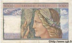 1000 Francs TRÉSOR PUBLIC FRANCE  1955 VF.35.01 TTB+