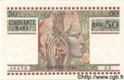 50 Mark SARRE FRANCE  1947 VF.48.01 SPL