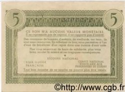 5 Francs BON DE SOLIDARITÉ FRANCE  1941 KL.05A
