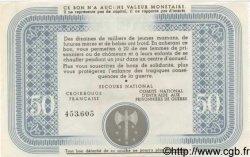 50 Francs BON DE SOLIDARITÉ FRANCE régionalisme et divers  1941 KL.09A SPL