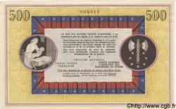 500 Francs BON DE SOLIDARITÉ FRANCE  1941 KL.11B SUP+
