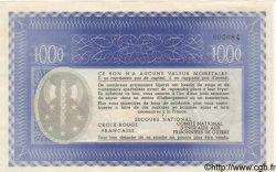 1000 Francs BON DE SOLIDARITÉ FRANCE régionalisme et divers  1941 KL.12A SUP+