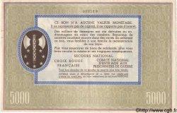 5000 Francs BON DE SOLIDARITÉ FRANCE  1941 KL.13B SUP+