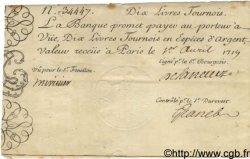 10 Livres Tournois gravé FRANCE  1719 Laf.073 TTB+