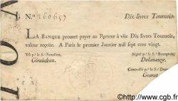 10 Livres Tournois typographié FRANCE  1720 Laf.087 TTB+