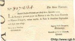10 Livres Tournois typographié FRANCE  1720 Laf.095 SPL
