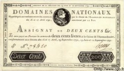 200 Livres FRANCE  1791 Laf.142 TTB