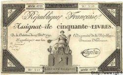 50 Livres FRANCE  1792 Laf.164a pr.TTB
