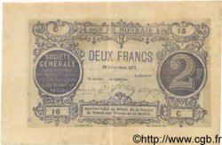 2 Francs FRANCE régionalisme et divers  1871 BPM.012b TTB
