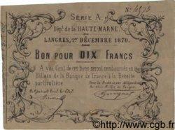 10 Francs FRANCE régionalisme et divers  1870 BPM.049.10 TTB