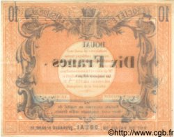 10 Francs FRANCE  1870 BPM.063.22c SUP
