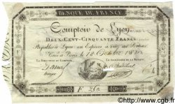 250 Francs Comptoir de Lyon FRANCE  1810 F.A07var. TTB