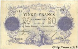 20 Francs 1871 FRANCE  1872 F.A46.03 TB+