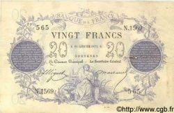 20 Francs 1871 dates erronées FRANCE  1873 F.A46bis.01 TTB
