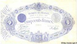 500 Francs 1863 Indices Noirs modifié FRANCE  1882 F.A49.01 TTB