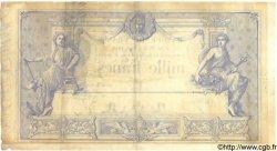 1000 Francs 1862 indices noirs modifié FRANCE  1884 F.A50.03 TB+