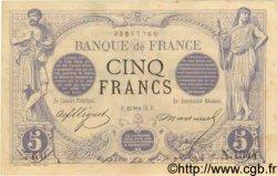 5 Francs NOIR FRANCE  1872 F.01.12 TTB+