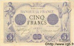 5 Francs NOIR FRANCE  1873 F.01.16 SUP+