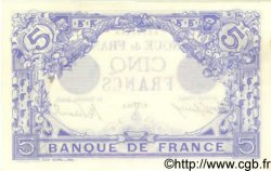 5 Francs BLEU FRANCE  1912 F.02.04 SUP+ à SPL
