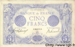 5 Francs BLEU FRANCE  1915 F.02.33 pr.SUP