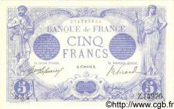 5 Francs BLEU FRANCE  1916 F.02.45 NEUF