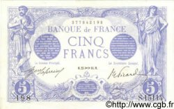 5 Francs BLEU FRANCE  1916 F.02.45 pr.NEUF