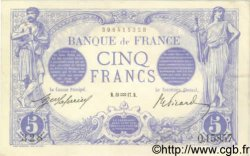 5 Francs BLEU FRANCE  1917 F.02.47 SUP+
