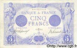5 Francs BLEU FRANCE  1917 F.02.48 TTB