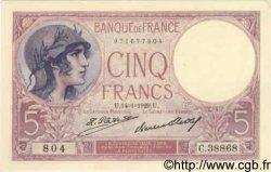 5 Francs VIOLET FRANCE  1929 F.03.13 SPL+