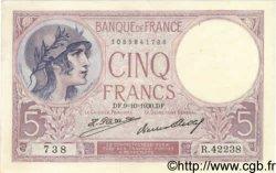 5 Francs VIOLET FRANCE  1930 F.03.14 pr.SPL