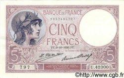 5 Francs VIOLET FRANCE  1930 F.03.14 SPL