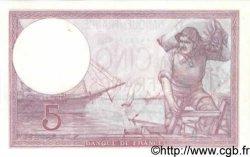 5 Francs VIOLET modifié FRANCE  1939 F.04.02 pr.NEUF