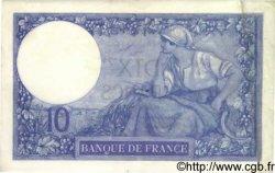 10 Francs MINERVE FRANCE  1917 F.06.02 TTB+