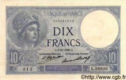 10 Francs MINERVE FRANCE  1926 F.06.11 SPL